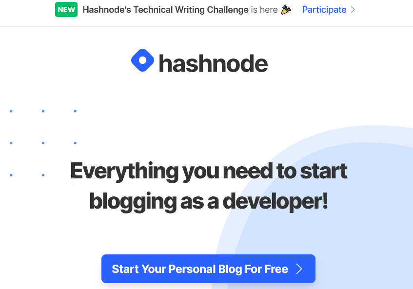 Hashnode_ Everything you need to start blogging as a developer!