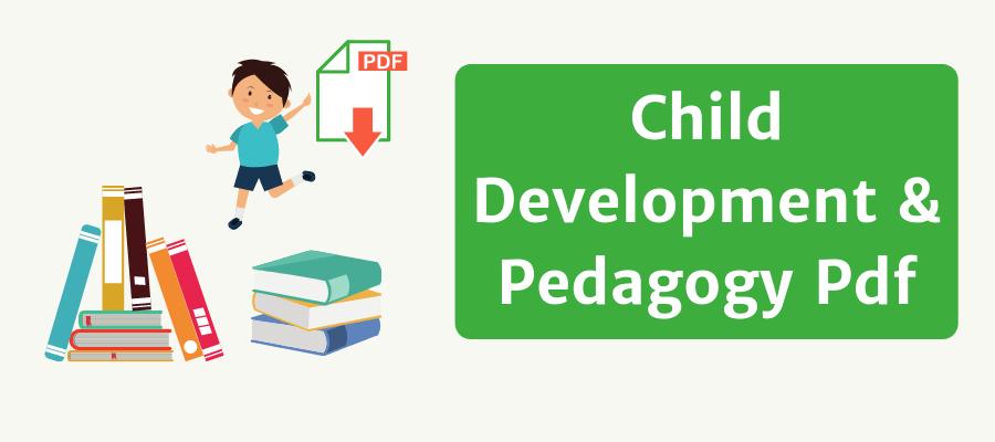child development and pedagogy pdf