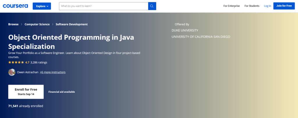 Object Oriented Programming in Java - Coursera
